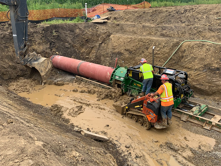 Clearpath Utility Solutions - Auger-Bore-For-Pipeline-Washington-Court-House-OH